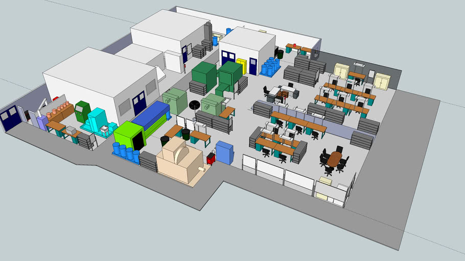 Factory Layout | 3D Warehouse