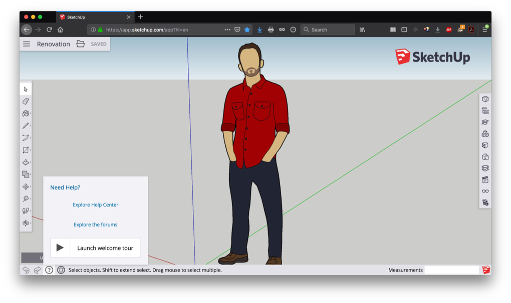 SketchUp, a 3D modeling program. If you are new to free 3D drawing programs, check out any included help guides, tutorials or forums to make sure the software is right for you. (Handout via The New York Times)