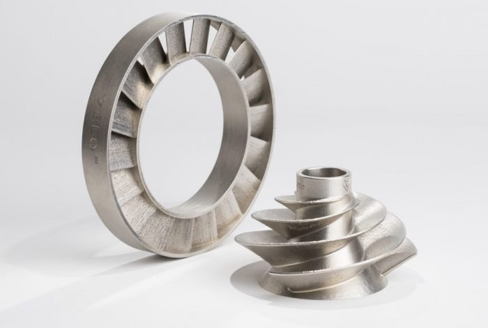 A 3D-printed stator ring and impeller [Image credit: VELO3D]