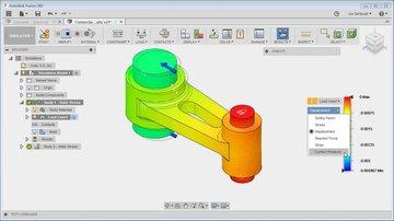 Load simulation in Fusion 360