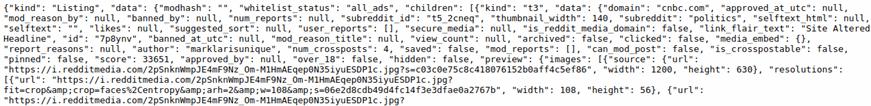 raw JSON data in chrome