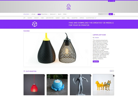 Cults is a great place to find & download 3D models for 3D printing.
