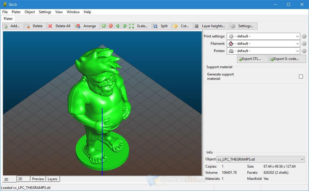 Slic3r 1.30 Free Download - FreewareFiles.com - Free Graphics Tools Category