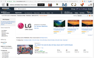 Amazon product list page