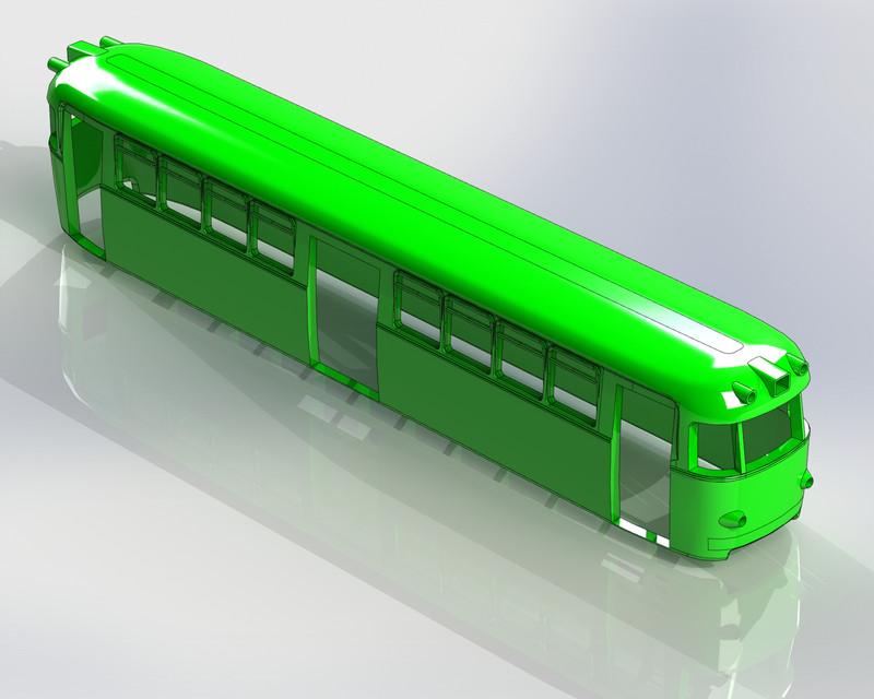 model-of-a-tram-3d